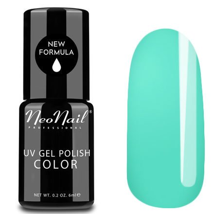 NeoNail, Гель-лак - Light Aquamarine №4930 (6 мл.)NeoNail<br>Гель-лак, светлый аквамарин, глянцевый, без блесток и перламутра, плотный<br>