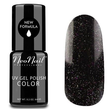 NeoNail, Гель-лак - Perseus №5007 (6 мл.)NeoNail<br>Гель-лак, черная галактика, глянцевый, с блестками, плотный<br>