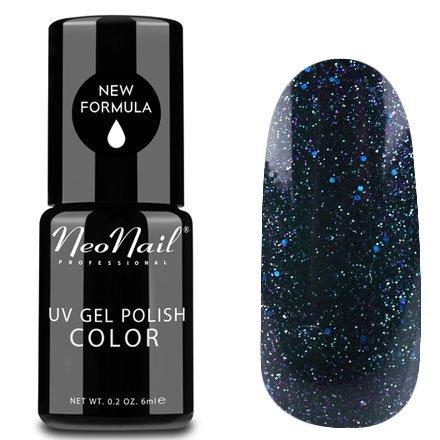 NeoNail, Гель-лак - Andromeda №5009 (6 мл.)NeoNail<br>Гель-лак, чернильно-синий, глянцевый, с блестками, плотный<br>