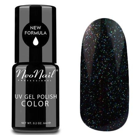 NeoNail, Гель-лак - Phoenix №5011 (6 мл.)NeoNail<br>Гель-лак, черно-синий, глянцевый, с блестками, плотный<br>