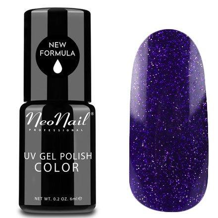 NeoNail, Гель-лак - Cassiopeia №5012 (6 мл.)NeoNail<br>Гель-лак, тёмно-фиолетовый, глянцевый, с блестками, плотный<br>