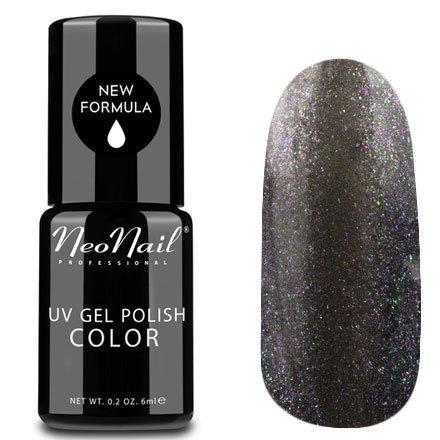 NeoNail, Гель-лак - Silvery Moon №5013 (6 мл.)NeoNail<br>Гель-лак, графитовый, глянцевый, с блестками, плотный<br>