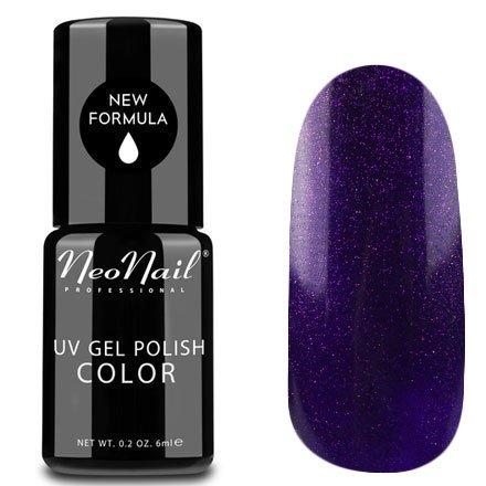 NeoNail, Гель-лак - Sensual Venus №5014 (6 мл.)NeoNail<br>Гель-лак, темный фиолетовый, глянцевый, с блестками, плотный<br>