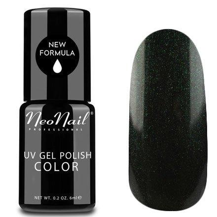 NeoNail, Гель-лак - Mystical Saturn №5015 (6 мл.)NeoNail<br>Гель-лак, темно-зеленый, глянцевый, с блестками, плотный<br>