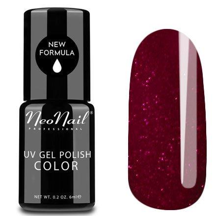 NeoNail, Гель-лак - Ruby garnet №5141 (6 мл.)NeoNail<br>Гель-лак, гранатовый, глянцевый, с рубиновыми блестками, плотный<br>