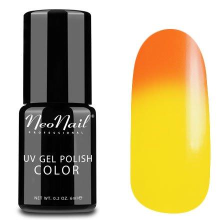 NeoNail, Термогель-лак - Tequila Sunrise №5184 (6 мл.)NeoNail<br>Термогель-лак, оранжевый/желтый, без блесток и перламутра, плотный<br>