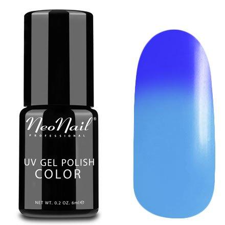 NeoNail, Термогель-лак - Blue Heaven №5185 (6 мл.)NeoNail<br>Термогель-лак, фиолетовый/голубой, без блесток и перламутра, плотный<br>