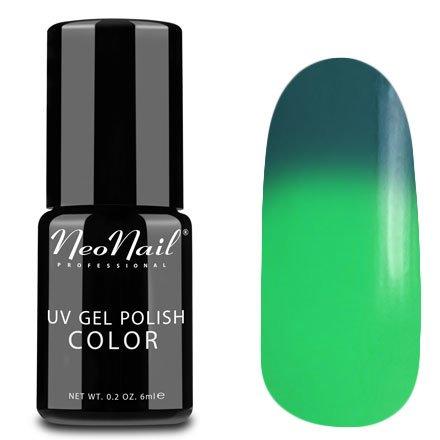 NeoNail, Термогель-лак - Green Lantern №5187 (6 мл.)NeoNail<br>Термогель-лак, темно-зеленый/зеленый, без блесток и перламутра, плотный<br>