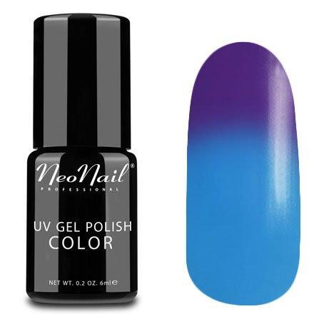 NeoNail, Термогель-лак - Blue Lagoon №5191 (6 мл.)NeoNail<br>Термогель-лак, фиолетовый/голубой, без блесток и перламутра, плотный<br>