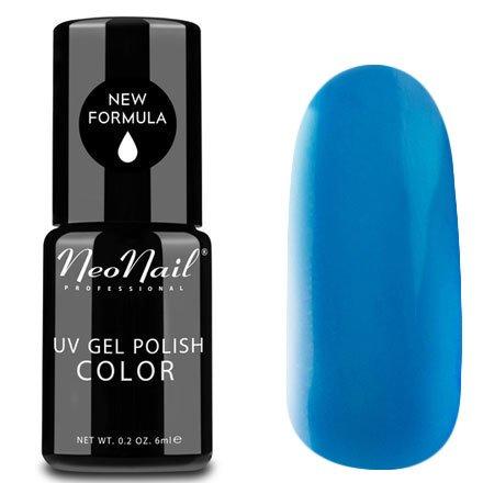 NeoNail, Гель-лак - Parisian Blue №3768 (6 мл.)NeoNail<br>Гель-лак, сине-голубой, глянцевый, без блесток и перламутра, плотный<br>