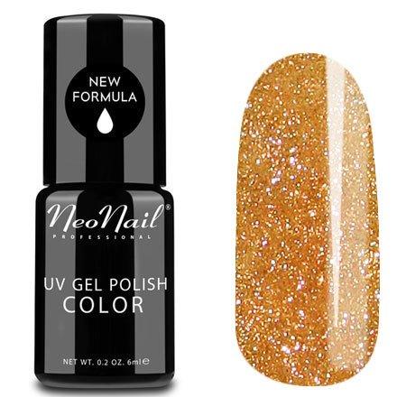 NeoNail, Гель-лак - Copper Gold №4625 (6 мл.)NeoNail<br>Гель-лак, полупрозрачный с золотистым подтоном, с розоватым отливом блестки<br>