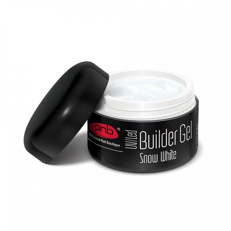 PNB, UV/LED Builder Gel Snow White - Однофазный моделирующий гель белоснежный белый, 15 мл (PNB (США))