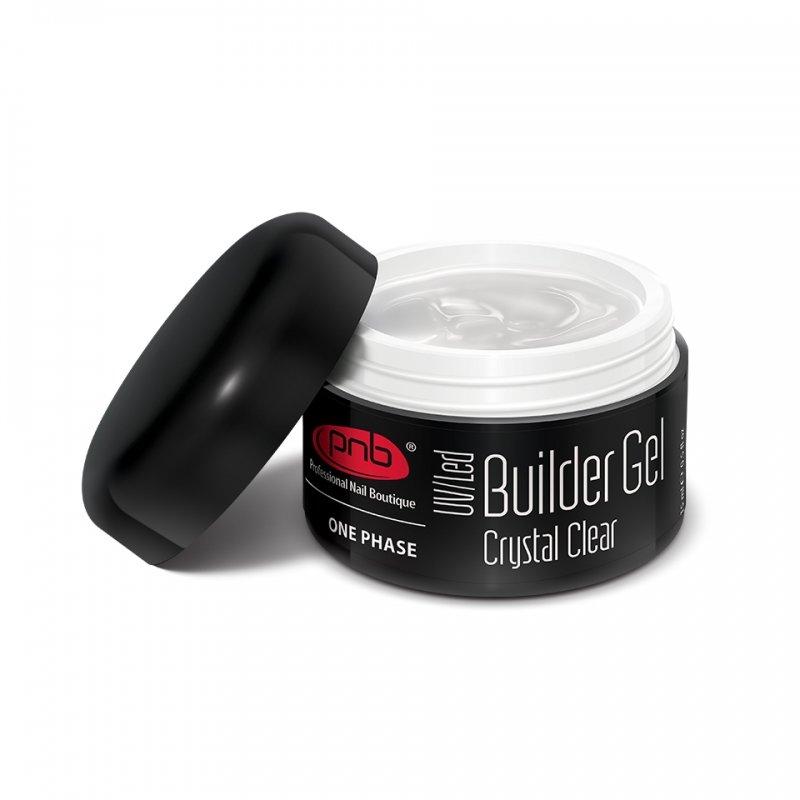 PNB, UV/LED Builder Gel Сrystal Clear - Однофазный моделирующий гель прозрачный, 50 млГели PNB<br>Однофазный моделирующий гель прозрачный<br>
