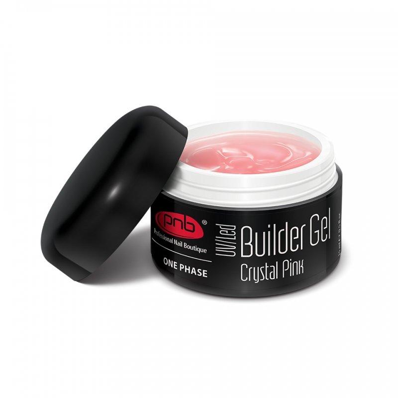 PNB, UV/LED Builder Gel Crystal Pink - Однофазный моделирующий гель прозрачно-розовый, 15 млГели PNB<br>Однофазный моделирующий гель прозрачно-розовый<br>