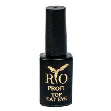 Rio Profi, Top Cat Eye - Топовое покрытие Кошачий глаз (Синий)Rio Profi<br>Топовое покрытие с эффектом Кошачий глаз - синий<br>