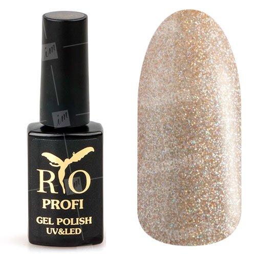 Rio Profi, Гель-лак каучуковый - Ветер перемен №142 (7 мл.)Rio Profi<br>Гель-лак каучуковый, песочный, плотный, с большим количеством голографических блесток<br>