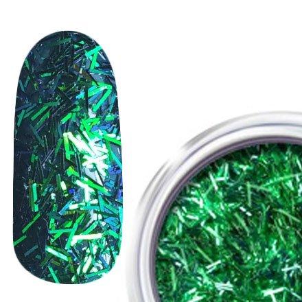 RainBird Nail, Стружка для дизайна - ЗеленыйСтружка<br>Мелкая блестящая стружка для дизайна<br>