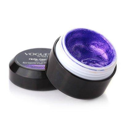 Vogue Nails, Гель-паста - Фиолетовый металлик P007 (5 гр.)Гель-краски Vogue Nails<br>Гель-паста - Фиолетовый металлик<br>