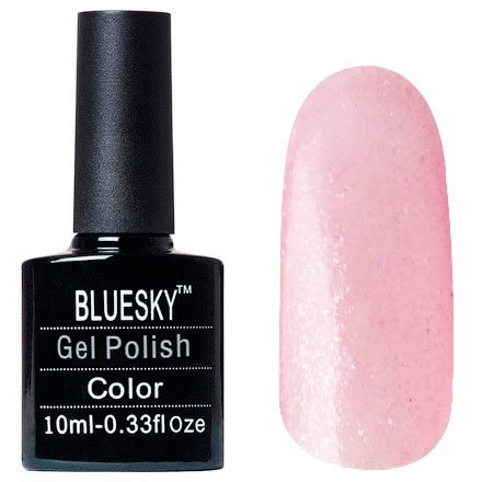 Bluesky Шеллак, цвет Z253 10mlBluesky 10 мл<br>Гель-лак прозрачный с розовым подтоном с блестками<br>