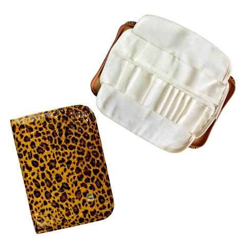 Staleks, Чехол Профессиональный - Универсальный без наполнения НМ- 11 (Леопард коричневый)Маникюрные наборы<br>Чехол прямоугольной формы с флисовым вкладышем<br>
