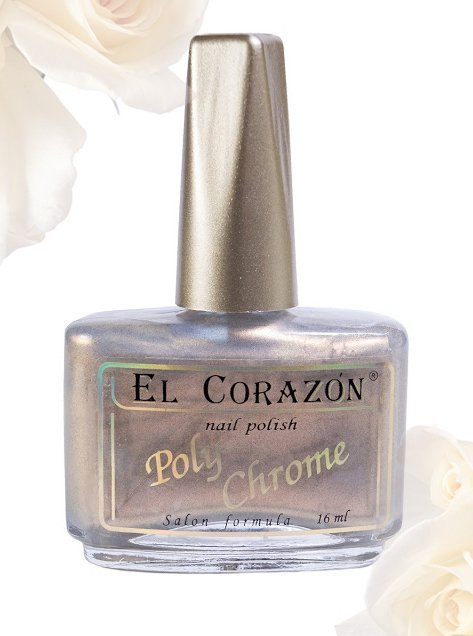 El Corazon Poly-Chrome, № 322Лаки El Corazon<br>Лак дуохромный розово-желтый шиммер, плотный. Объем 16 ml.<br>