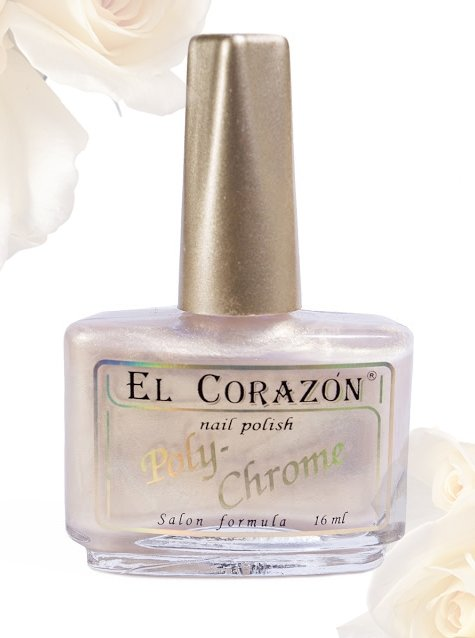 El Corazon Poly-Chrome, № 332Лаки El Corazon<br>Лакбелый с золотым шиммером, полупрозрачный. Объем 16 ml.<br>