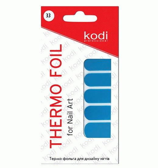 Kodi, Термо фольга для дизайна ногтей № 33Термо фольга Kodi<br>Термодизайн - это арт-стикеры для создания необычного запоминающегося образа вашего маникюра.<br>