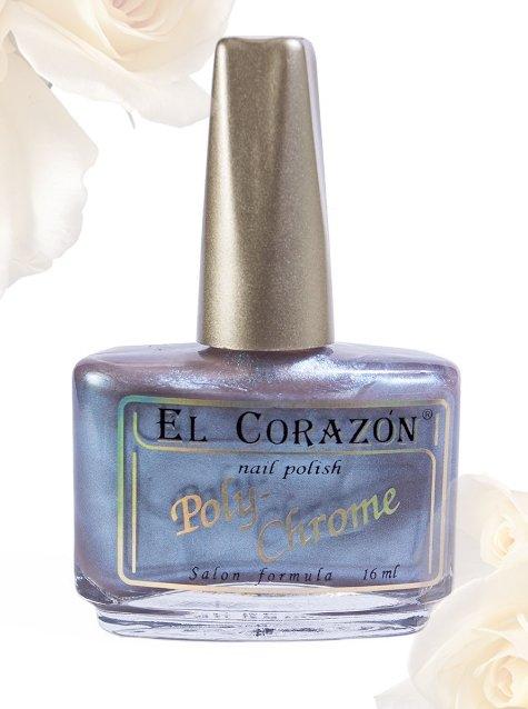 El Corazon Poly-Chrome, № 349Лаки El Corazon<br>Лак серо-коричневый с голубым шиммером, плотный. Объем 16 ml.<br>