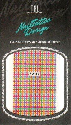 TNL, Наклейка-тату для дизайна FD-87Наклейка-тату для дизайна TNL<br>Наклейка-тату для дизайна<br>