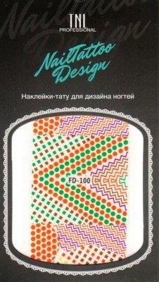 TNL, Наклейка-тату для дизайна FD-100Наклейка-тату для дизайна TNL<br>Наклейка-тату для дизайна<br>