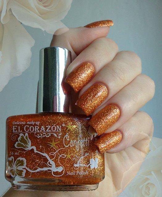 El Corazon Confetti, № 501АЛаки El Corazon<br>Лак бронзовый с блестками, плотный. Объем 16 ml.<br>