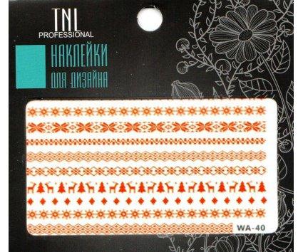 TNL, Наклейки для дизайна Premium WA-40Наклейки для дизайна ногтей<br>Наклейки для дизайна Premium<br>