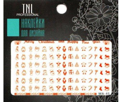 TNL, Наклейки для дизайна Premium WA-45Наклейки для дизайна ногтей<br>Наклейки для дизайна Premium<br>