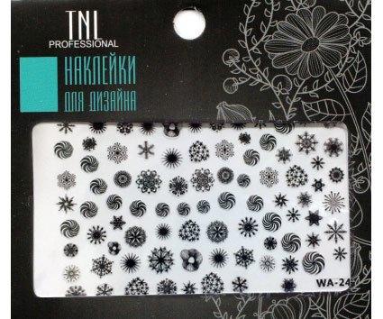 TNL, Наклейки для дизайна Premium WA-24 черныйНаклейки для дизайна ногтей<br>Наклейки для дизайна Premium<br>