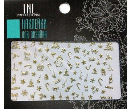 TNL, Наклейки для дизайна Premium WA-33 золотоНаклейки для дизайна ногтей<br>Наклейки для дизайна Premium<br>