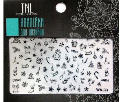 TNL, Наклейки для дизайна Premium WA-33 черныйНаклейки для дизайна ногтей<br>Наклейки для дизайна Premium<br>