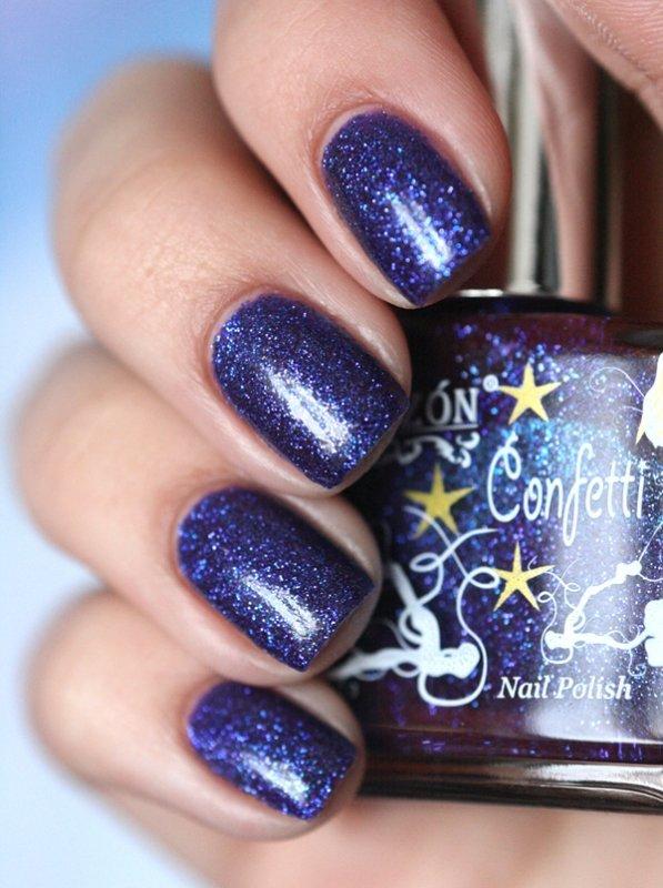 El Corazon Confetti, № 529AЛаки El Corazon<br>Лак темно синий с фиолетовым отливом.Объем 16 ml.<br>