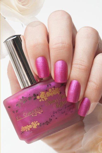 El Corazon Matte &amp; Shine Effect, №160Лаки El Corazon<br>Яркая фуксия, с большим кол-вом розовых и серебряных блесток, матовый, плотный.Объем 16 ml.<br>