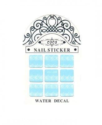 Coco, Nail Sticker - Слайдер-дизайн LW-106Слайдер-дизайн Coco<br>Слайдер-дизайн<br>