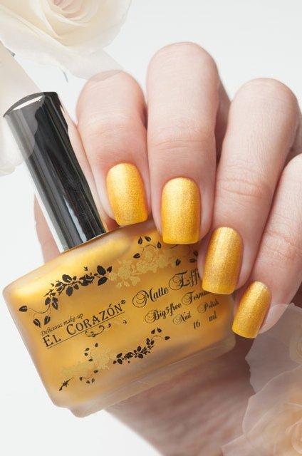 El Corazon Matte &amp; Shine Effect, №168Лаки El Corazon<br>Шафраново-желтый , плотный с блестками.Объем 16 ml.<br>