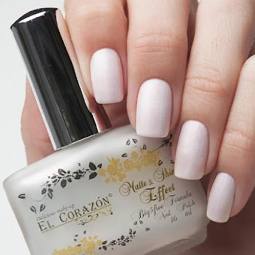 El Corazon Matte &amp; Shine Effect, №173Лаки El Corazon<br>Лакбело-розовый пастельный, плотный, с блестками.Объем 16 ml.<br>