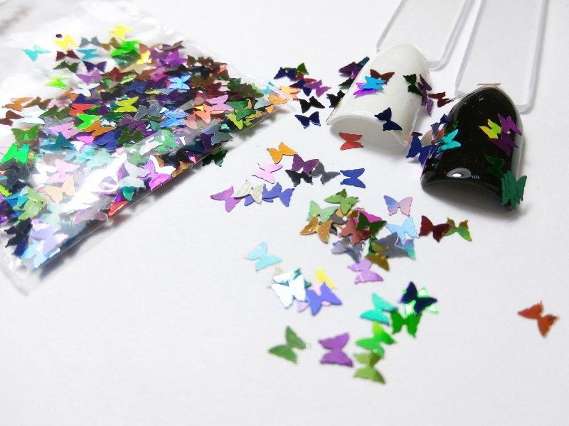 NelTes, Бабочки - микс №1Камифубуки для дизайна ногтей<br>Камифубуки для дизайна ногтей<br>