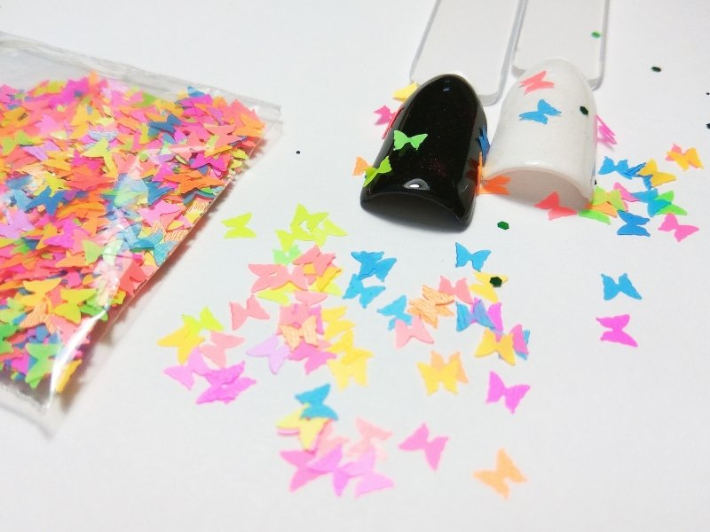 NelTes, Бабочки - микс №2Камифубуки для дизайна ногтей<br>Камифубуки для дизайна ногтей<br>