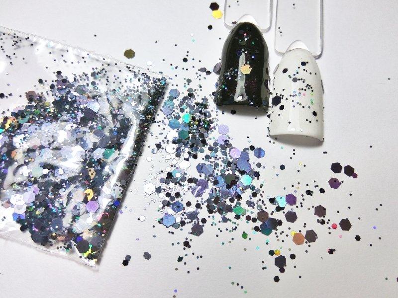 NelTes, Камифубуки - шестигранник черныйКамифубуки для дизайна ногтей<br>Камифубуки для дизайна ногтей<br>