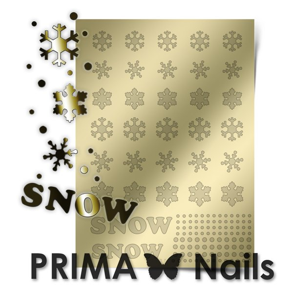 PrimaNails, Металлизированные наклейки для дизайна W-01, ЗолотоМеталлизированные наклейки<br>Металлизированные наклейки PRIMA NAILS - модный тренд в дизайне ногтей, который актуален для любого сезона!<br>