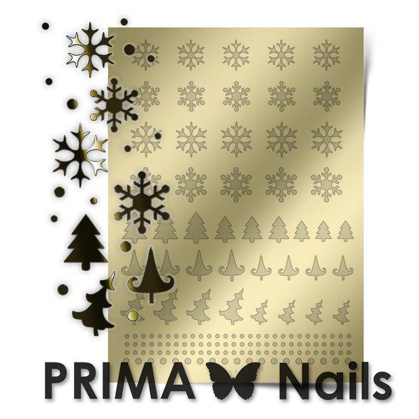 PrimaNails, Металлизированные наклейки для дизайна W-02, ЗолотоМеталлизированные наклейки<br>Металлизированные наклейки PRIMA NAILS - модный тренд в дизайне ногтей, который актуален для любого сезона!<br>