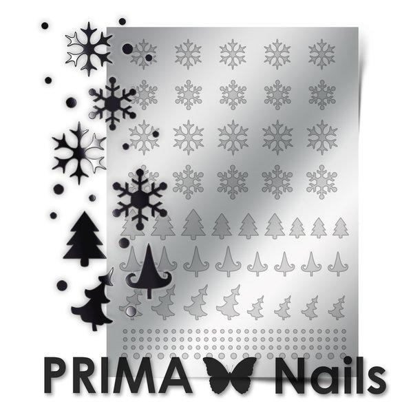 PrimaNails, Металлизированные наклейки для дизайна W-02, СереброМеталлизированные наклейки<br>Металлизированные наклейки PRIMA NAILS - модный тренд в дизайне ногтей, который актуален для любого сезона!<br>