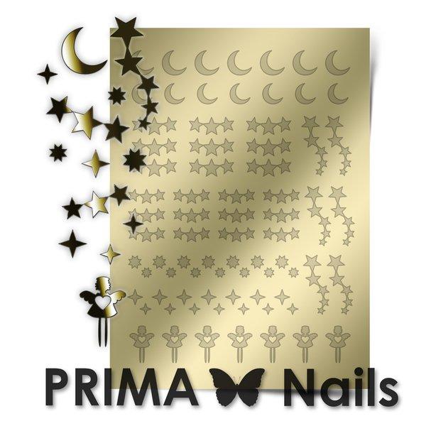 PrimaNails, Металлизированные наклейки для дизайна W-03, ЗолотоМеталлизированные наклейки<br>Металлизированные наклейки PRIMA NAILS - модный тренд в дизайне ногтей, который актуален для любого сезона!<br>