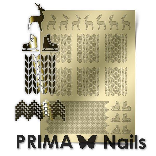 PrimaNails, Металлизированные наклейки для дизайна W-04, ЗолотоМеталлизированные наклейки<br>Металлизированные наклейки PRIMA NAILS - модный тренд в дизайне ногтей, который актуален для любого сезона!<br>