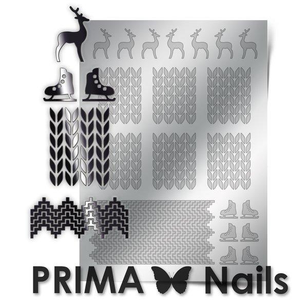 PrimaNails, Металлизированные наклейки для дизайна W-04, СереброМеталлизированные наклейки<br>Металлизированные наклейки PRIMA NAILS - модный тренд в дизайне ногтей, который актуален для любого сезона!<br>